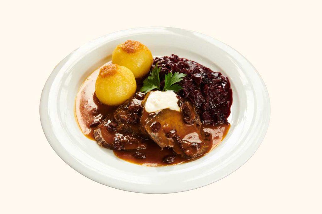 Speisekarte & Getränke - Braten und Klösse passend zum Bier in Dresden